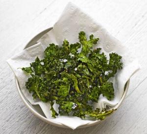 A crispy kale snack